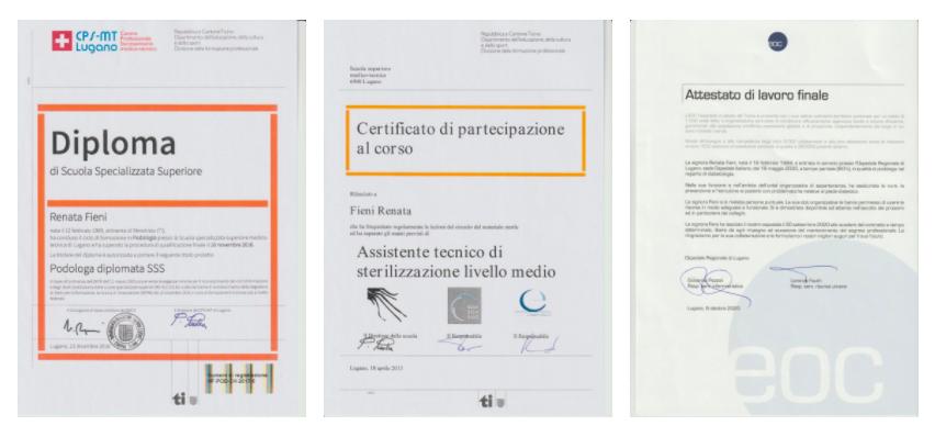 Diplomi e Certificati